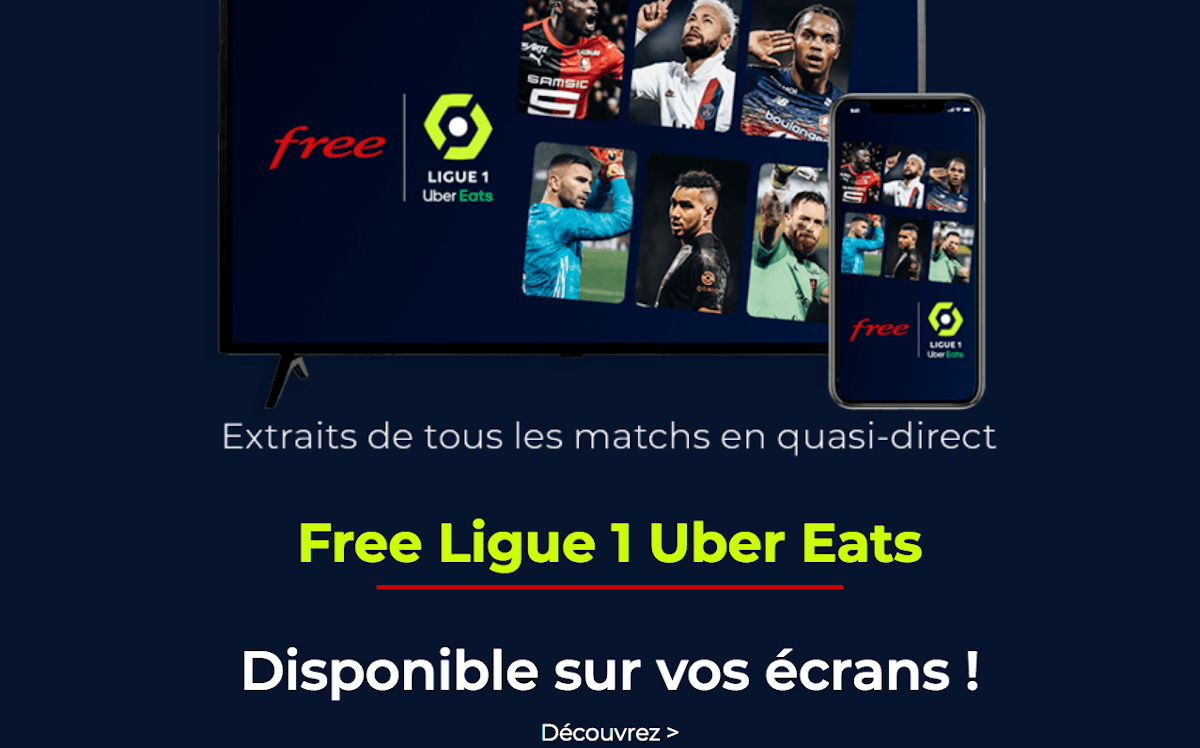 Freebox Pop Ligue 1 Uber Eats