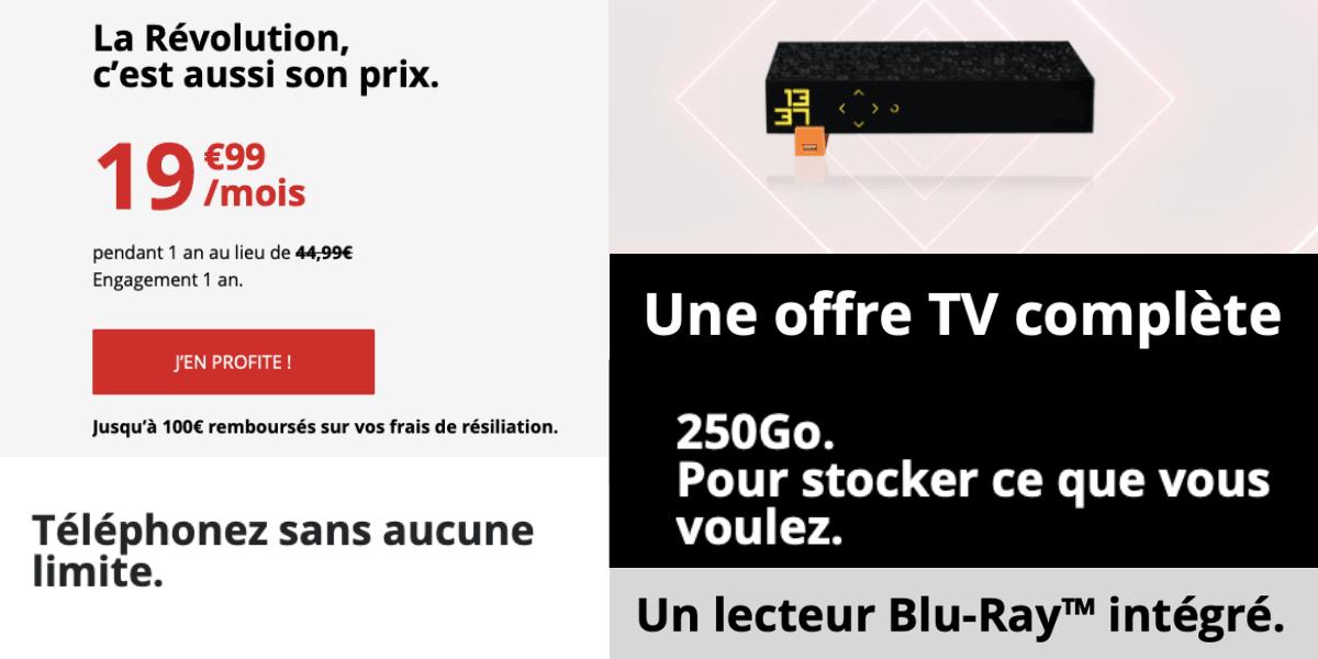 La box internet de Free à moins de 20€/mois.