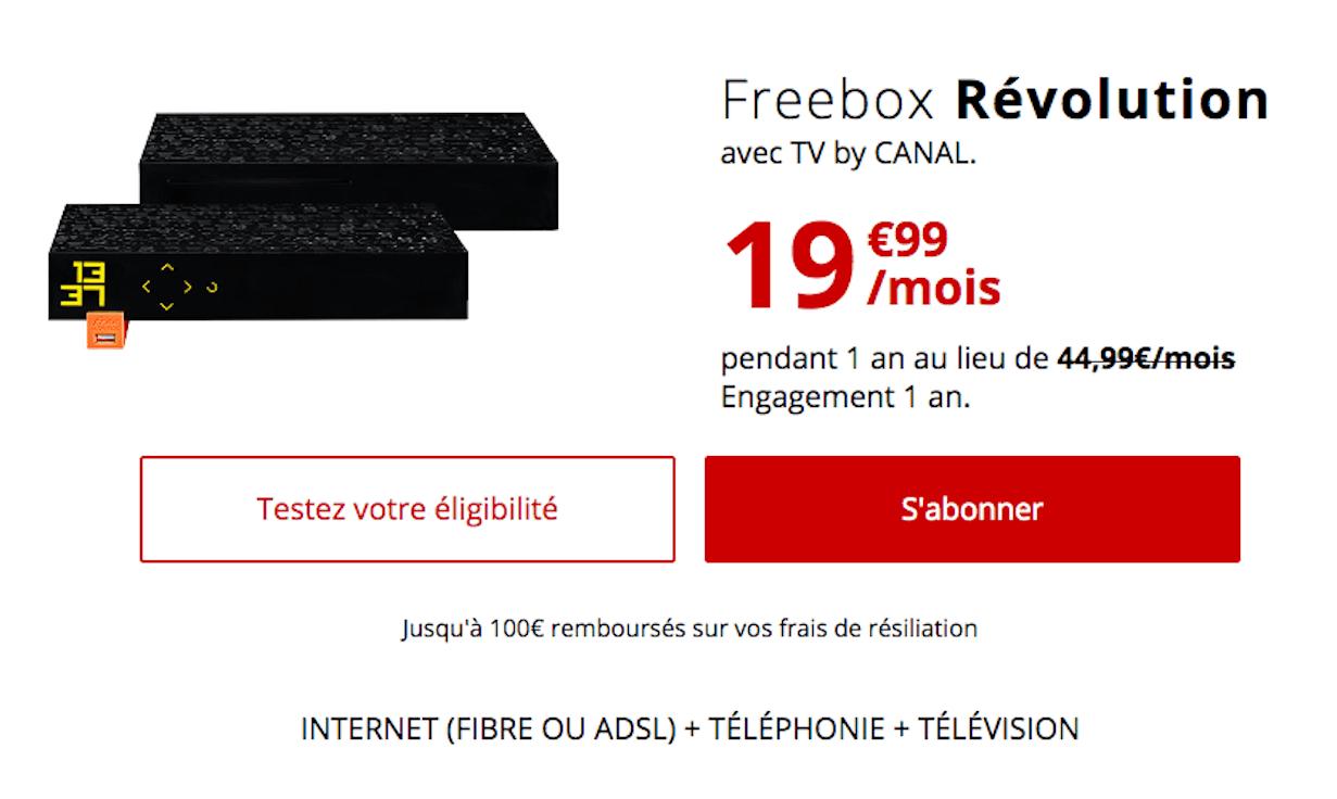 Offres Freebox Révolution