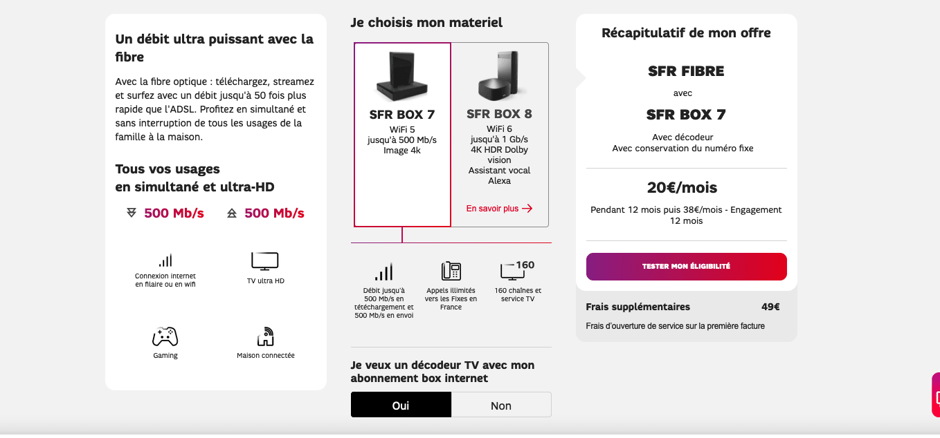 SFR Box 7 Fibre TV