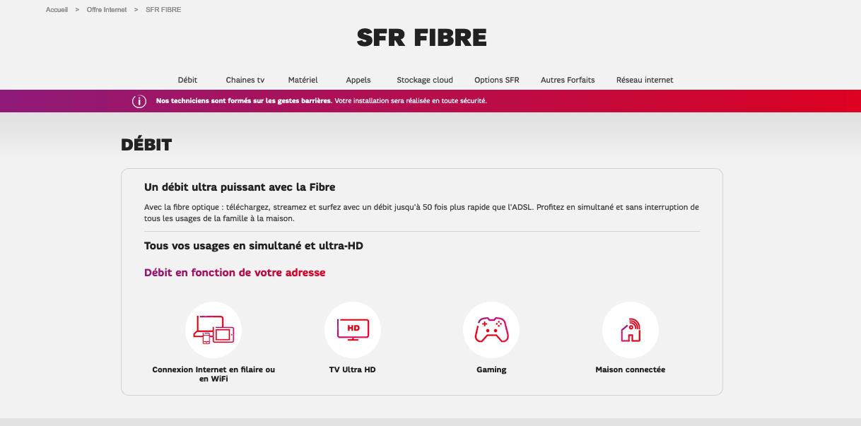 SFR Fibre 15€ par mois