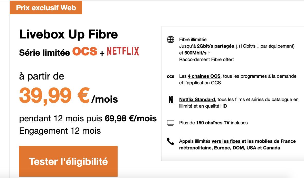 Livebox Up offre internet limitée
