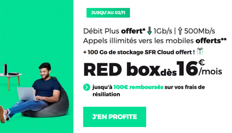 Promo RED Box ADSL à 16€ par mois.