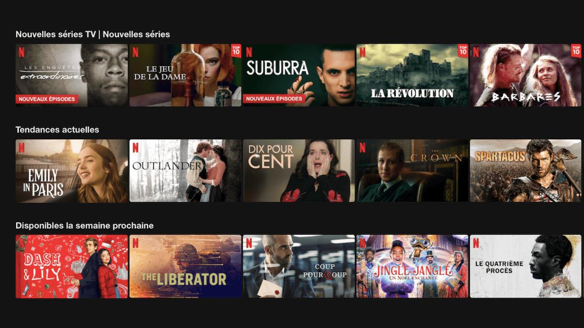 Un catalogue particulièrement complet pour Netflix