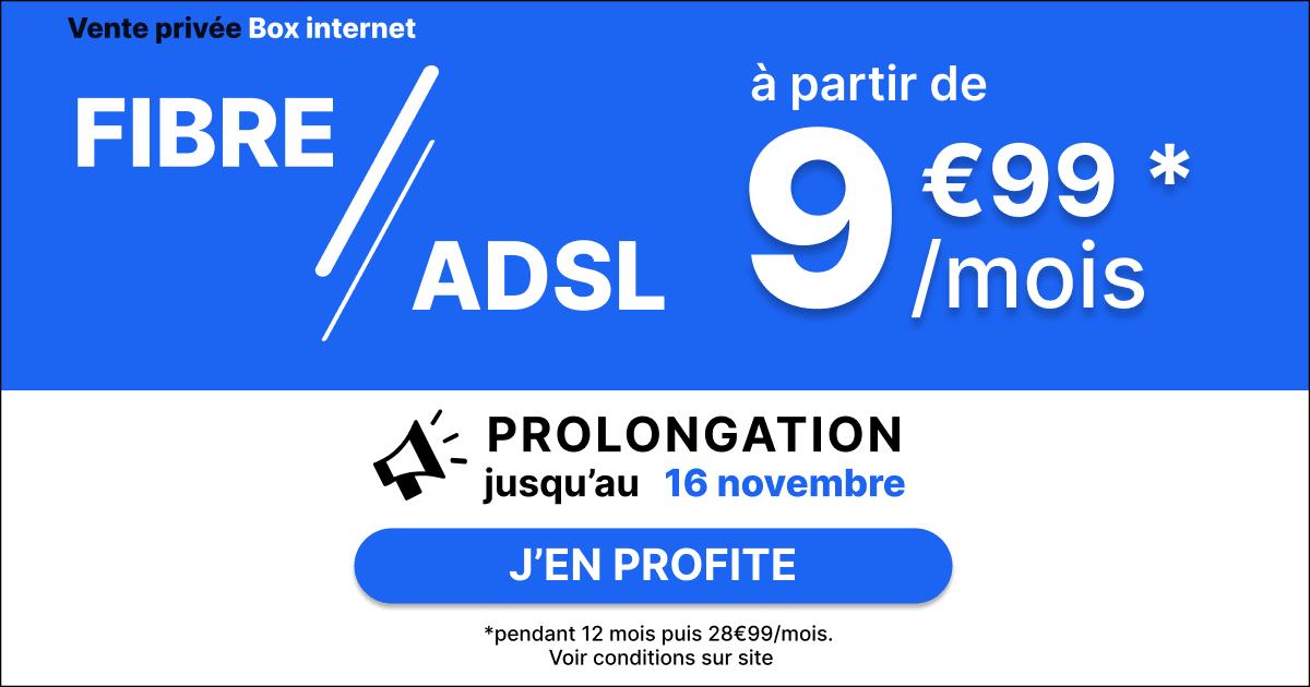 Abonnement internet vente privée 14,99€