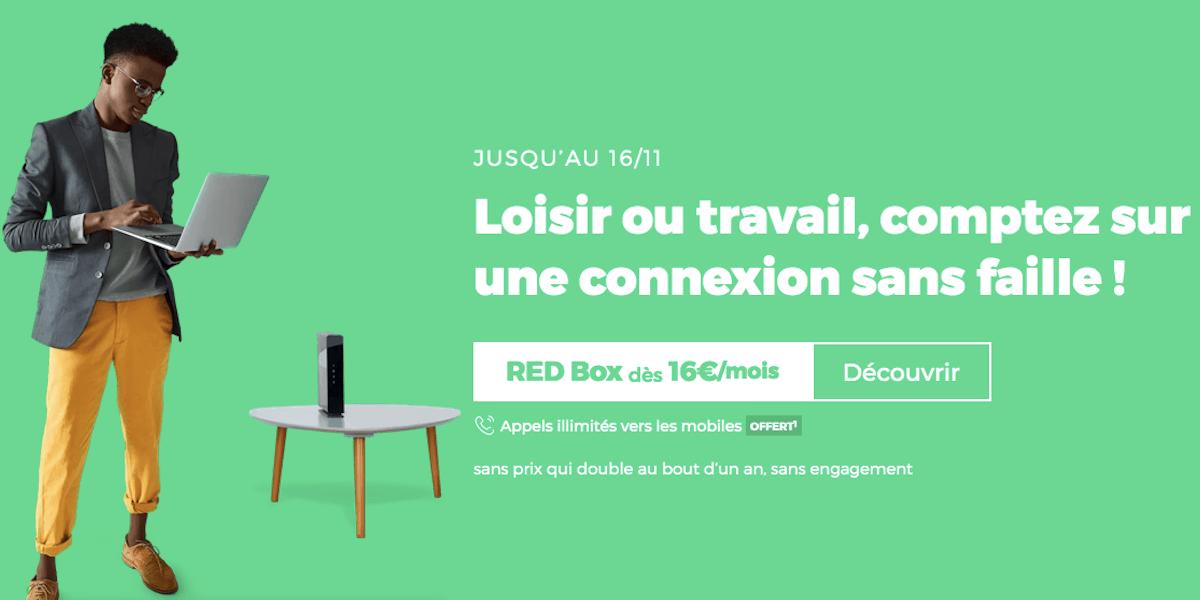 Box internet sans engagement RED