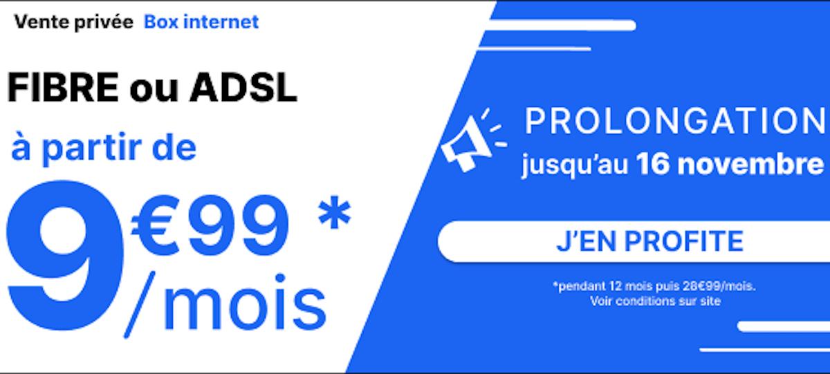 Forfait internet vente privée box 14,99€