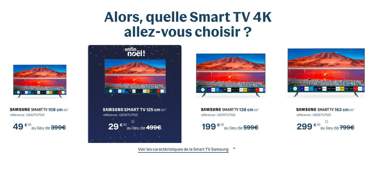 Samsung Smart TV chez Bouygues Telecom