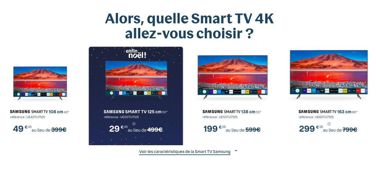 Samsung Smart TV chez Bouygues
