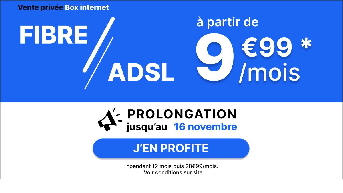 Une box dual play à 9,99€/mois avec la vente privée.