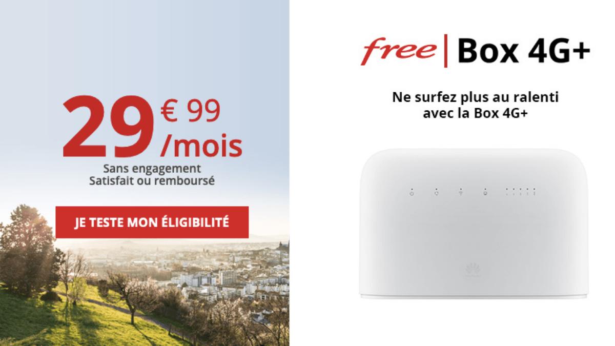29,99€ par mois pour la box 4G de Free.