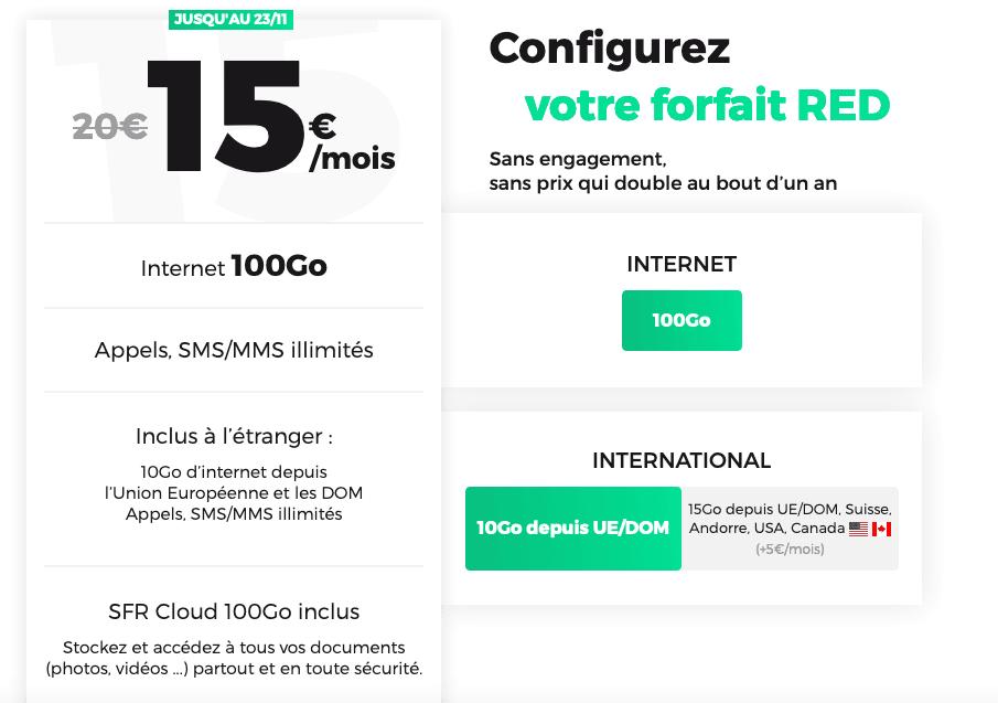 forfait 100 Go pour compléter offre box internet RED