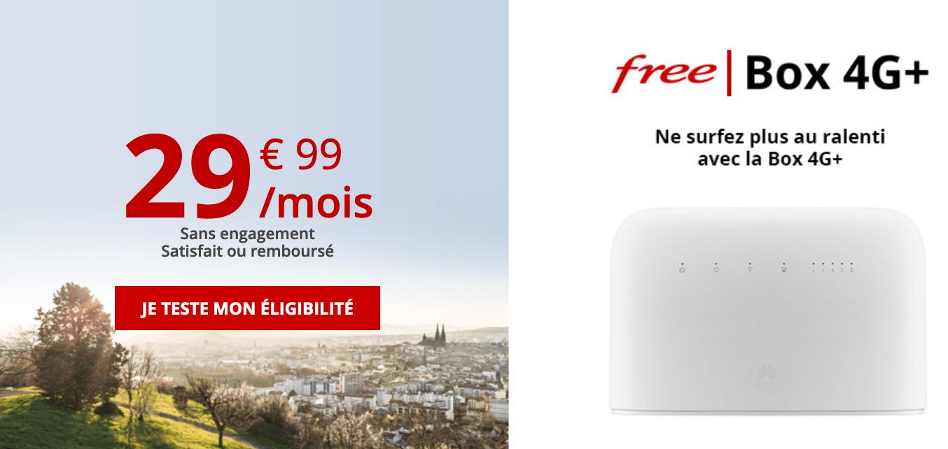 Free Box 4G+ moins de 30 euros