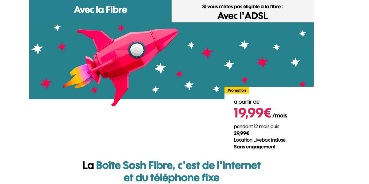 L'offre de box internet Sosh