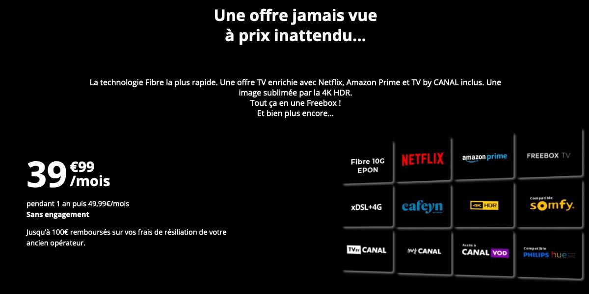 Offre TV Freebox Delta