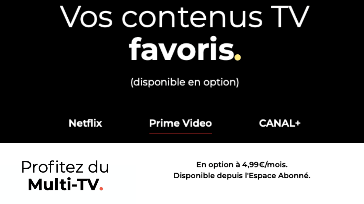 Options pour accompagner la Freebox Pop.