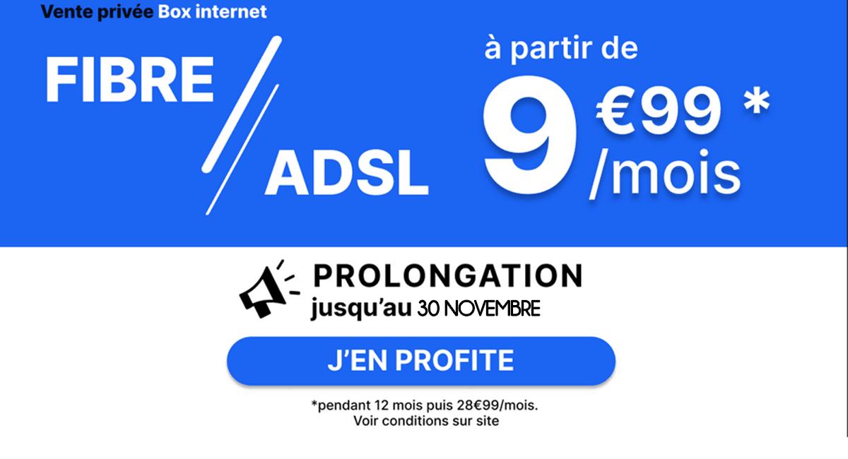 La vente privée propose une box fibre eà 14,99€/mois.