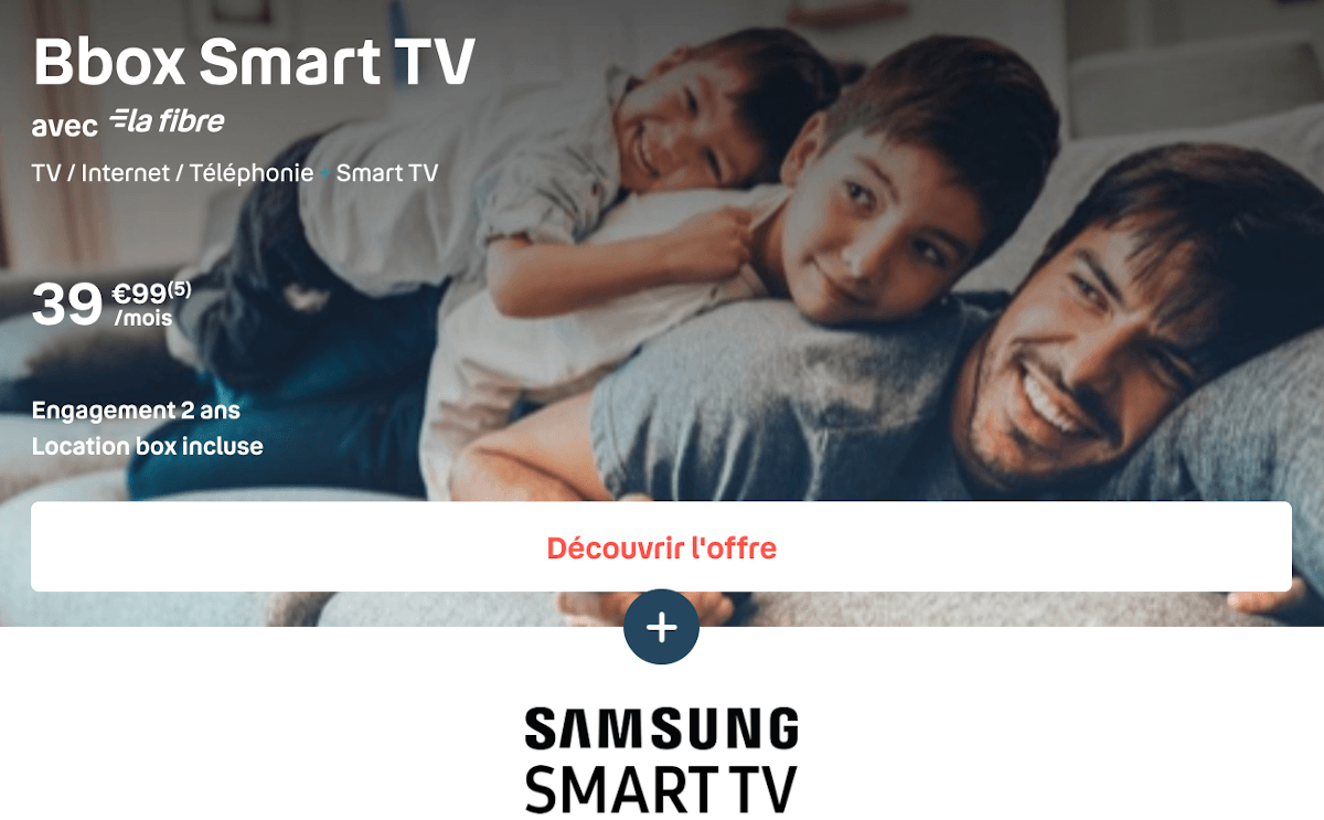 Box internet Bouygues Telecom Bbox Smart TV Samsung