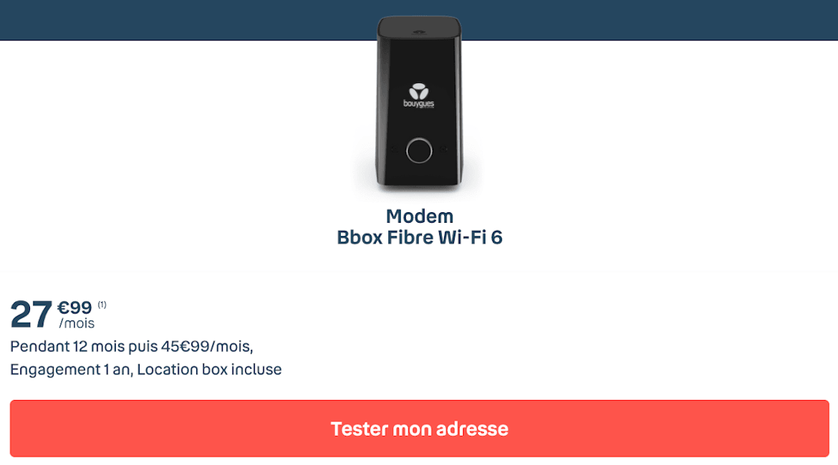 Box internet fibre TV Bouygues Telecom Bbox Ultym