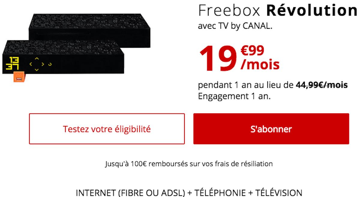 Freebox Révolution box internet TV Free ADSL ou fibre