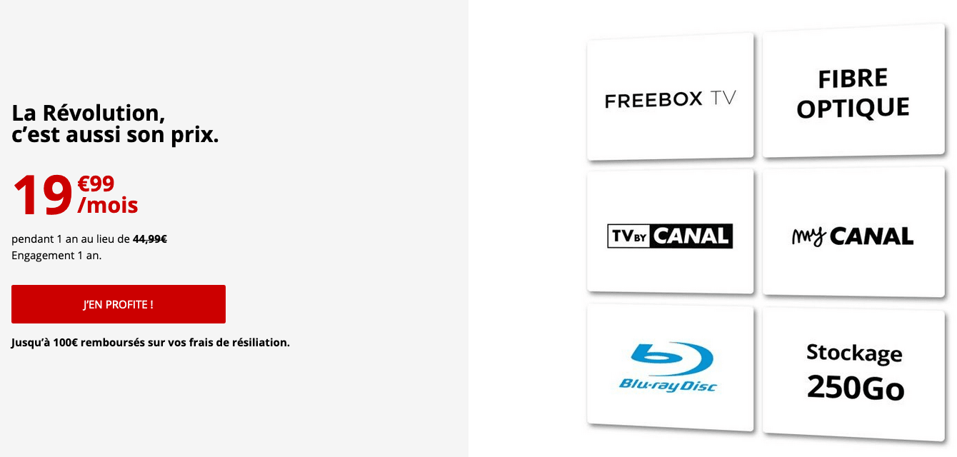 Freebox Revolution offre TV