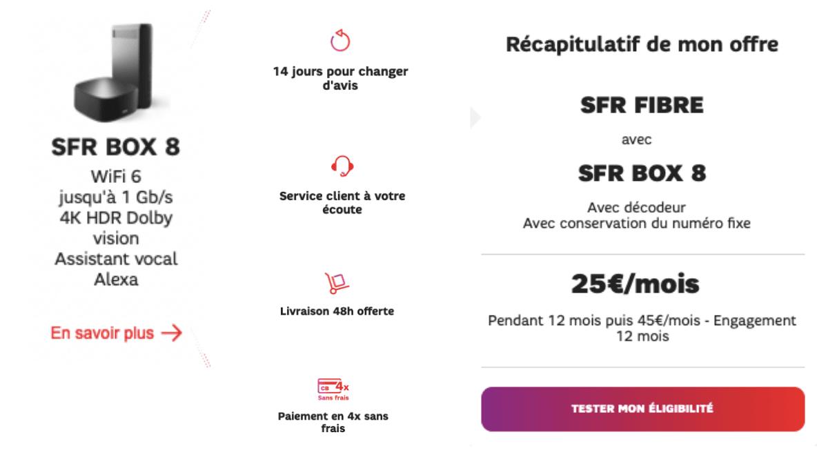 La box internet SFR Fibre avec la SFR Box 8.
