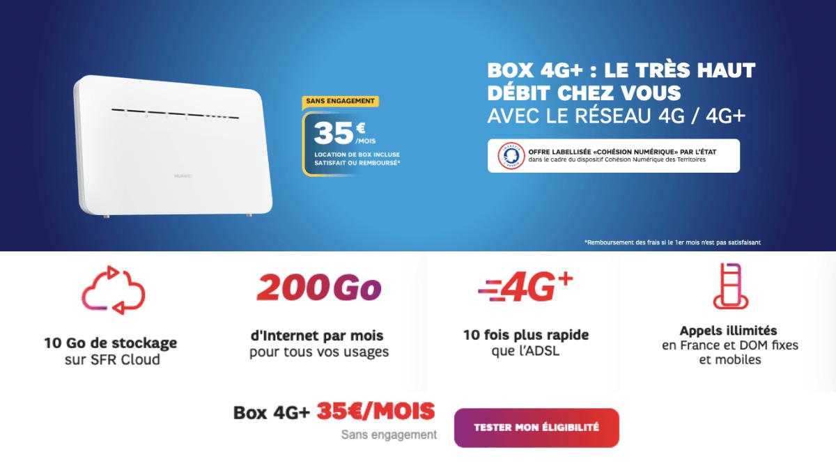 SFR et sa box 4G