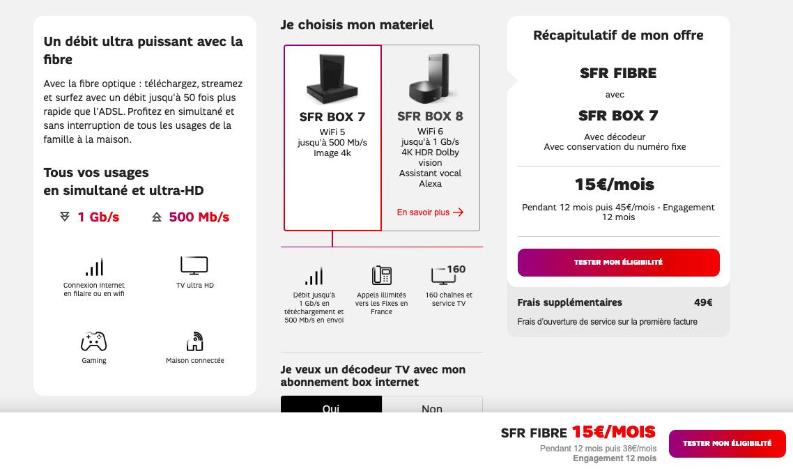 sfr fibre 15 euros