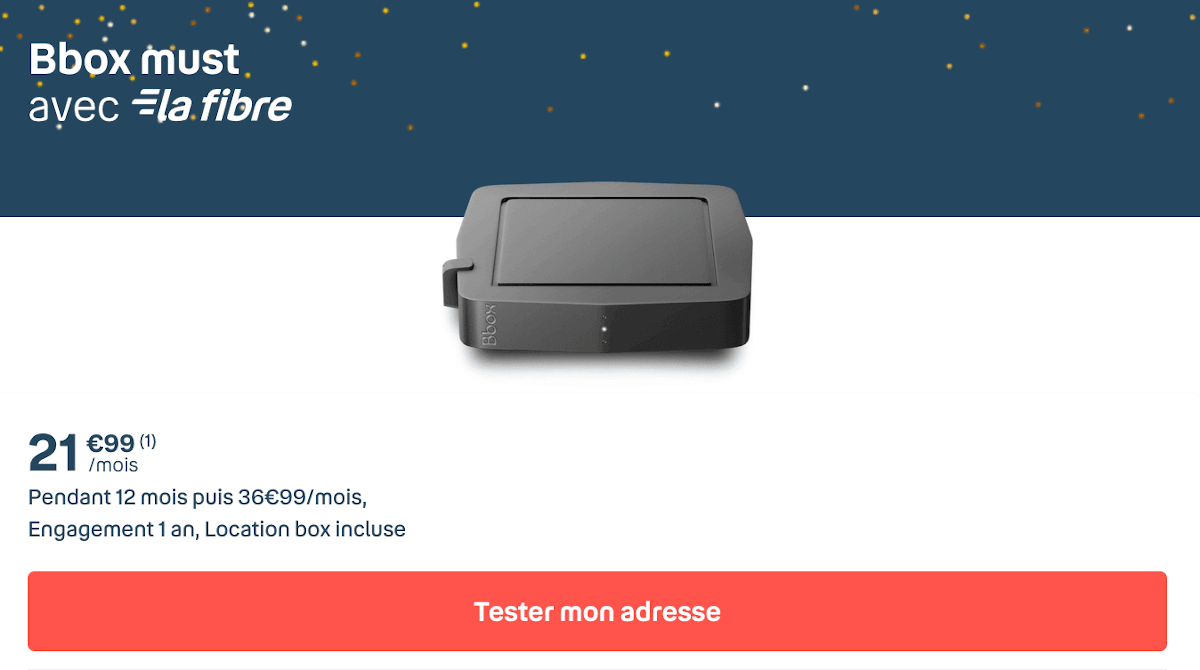 Bbox Must box internet Bouygues Telecom avec TV