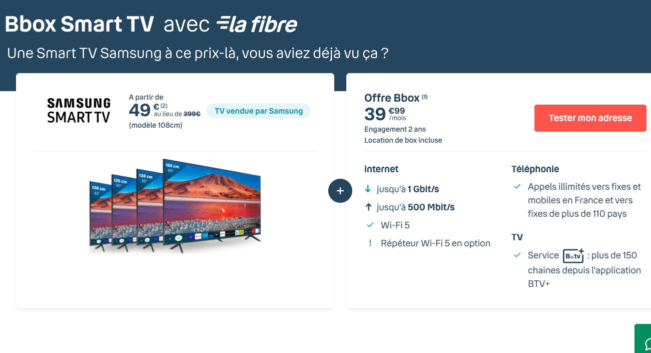 Bbox Smart TV avec la fibre