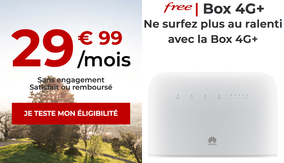 Box internet 4G Free Mobile sans engagement