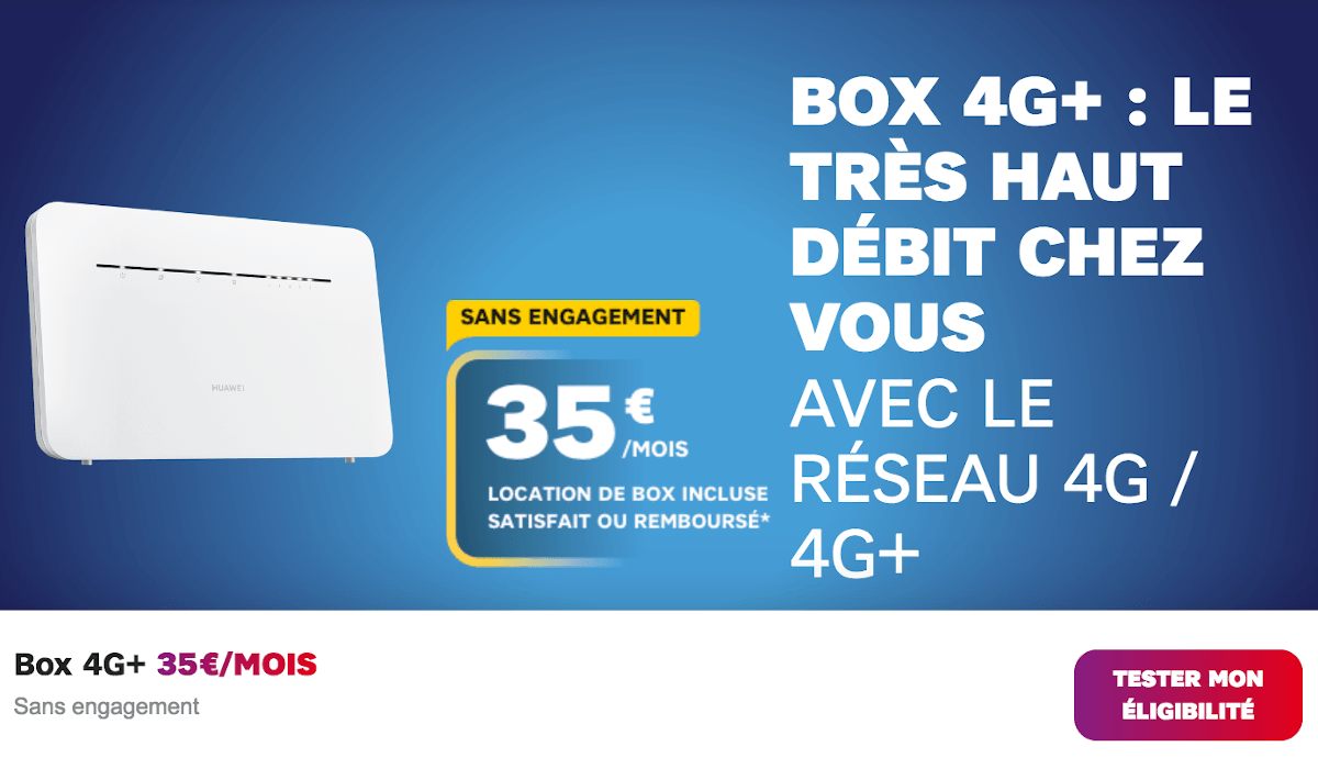 Box internet 4G SFR sans engagement