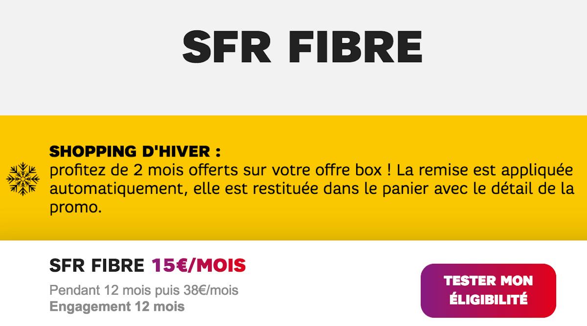 Box internet SFR Starter Fibre promo 2 mois