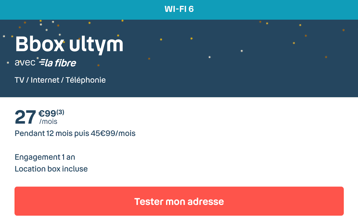Box internet TV triple-play Bouygues Telecom Bbox Ultym