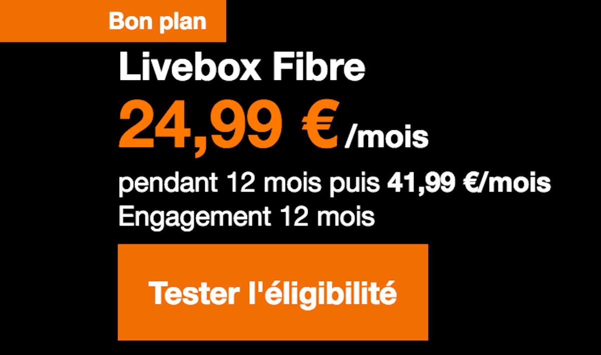Box internet TV triple-play Orange Livebox Fibre