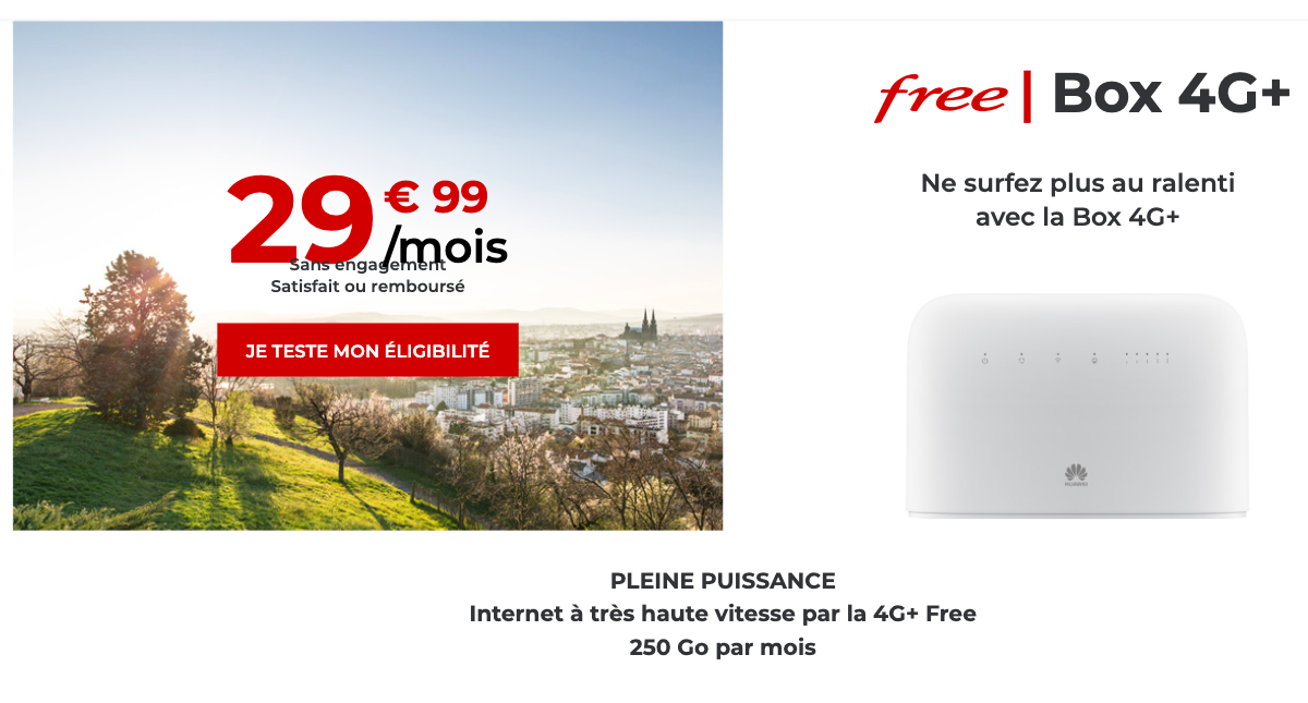 Free mobile offre box 4G