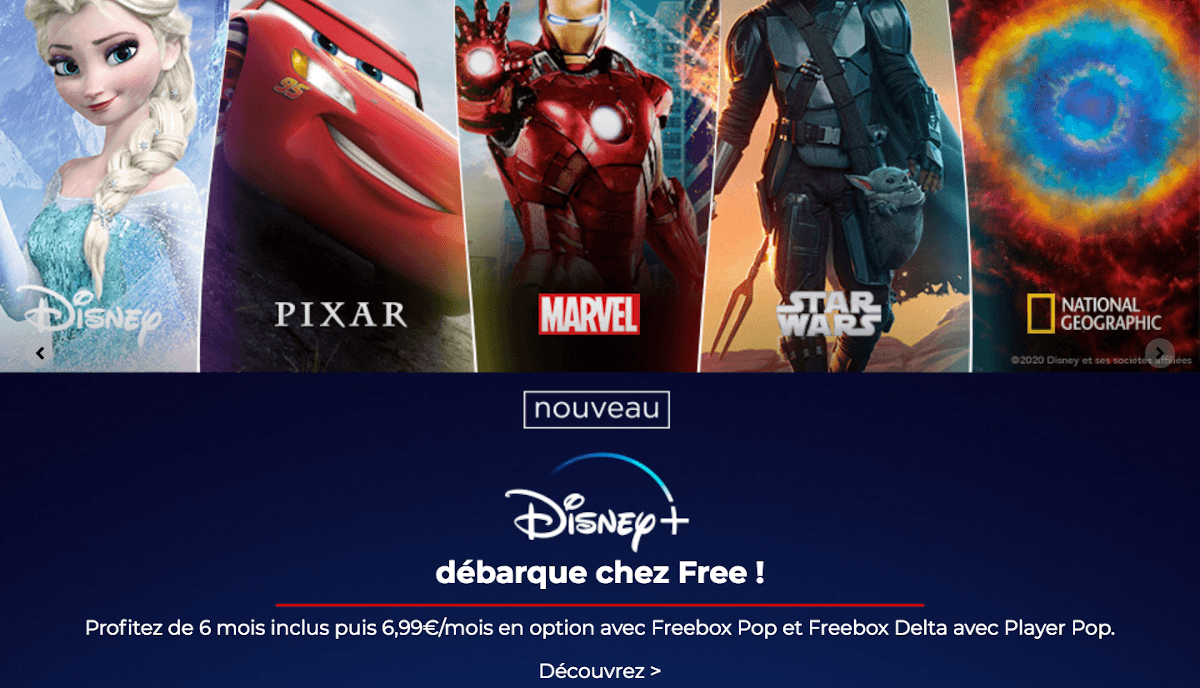 Freebox Pop box internet TV Free avec offre Disney+