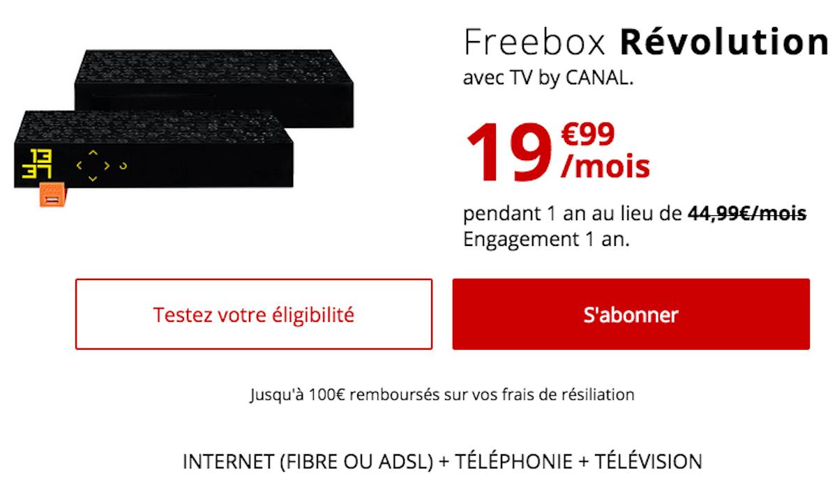 Freebox Révolution box internet Free ADSL ou fibre