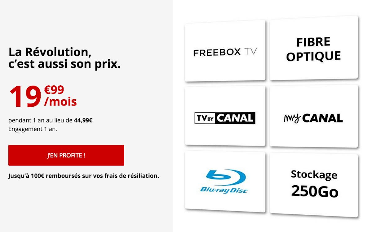 Freebox Révolution box internet fibre TV pas cher Free