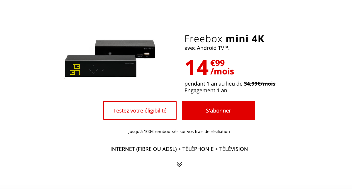 Freebox mini 4K meilleure offre semaine