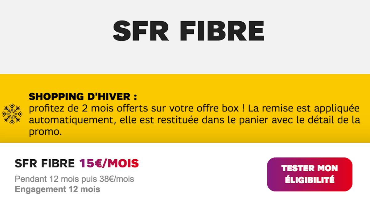SFR Starter Fibre box internet pas cher