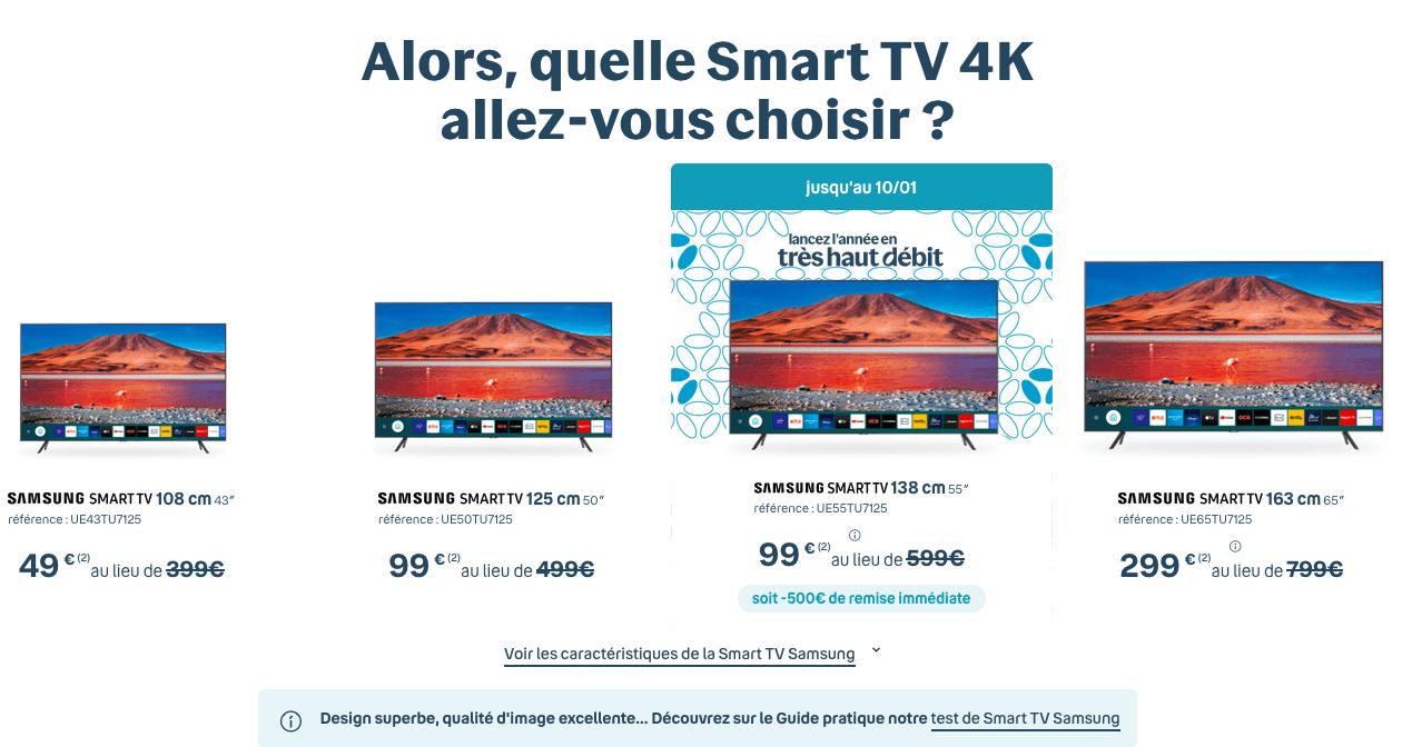 Smart TV 4K avec la fibre