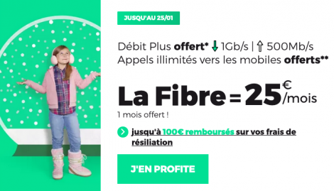 Promo fibre optique RED by SFR.