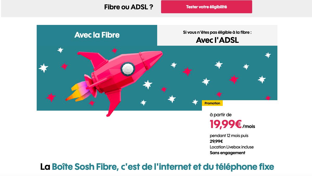 Box internet fibre Sosh