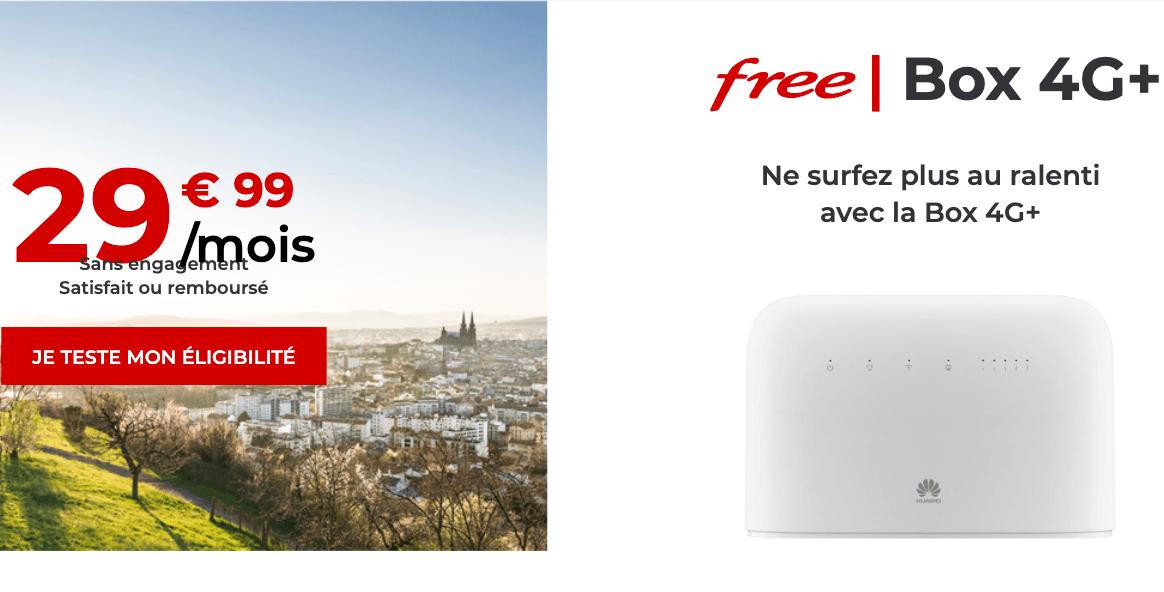 Free box 4G+ petit prix