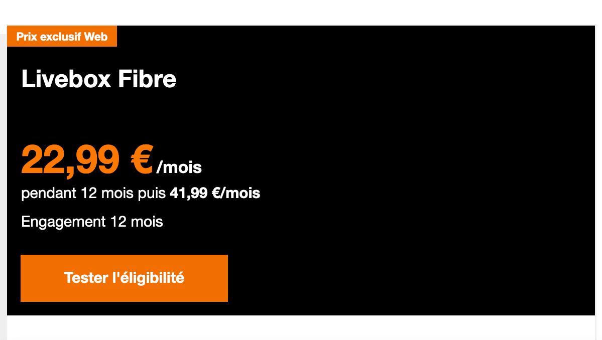 Box internet fibre Orange