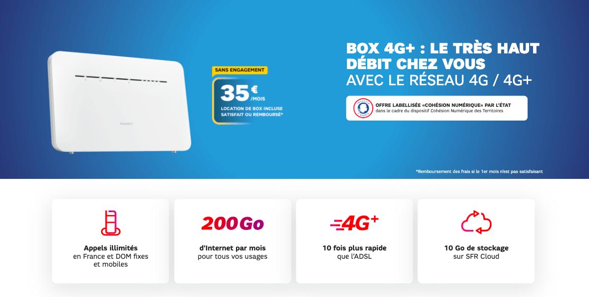 SFR box 4G+ pour meilleure connexion