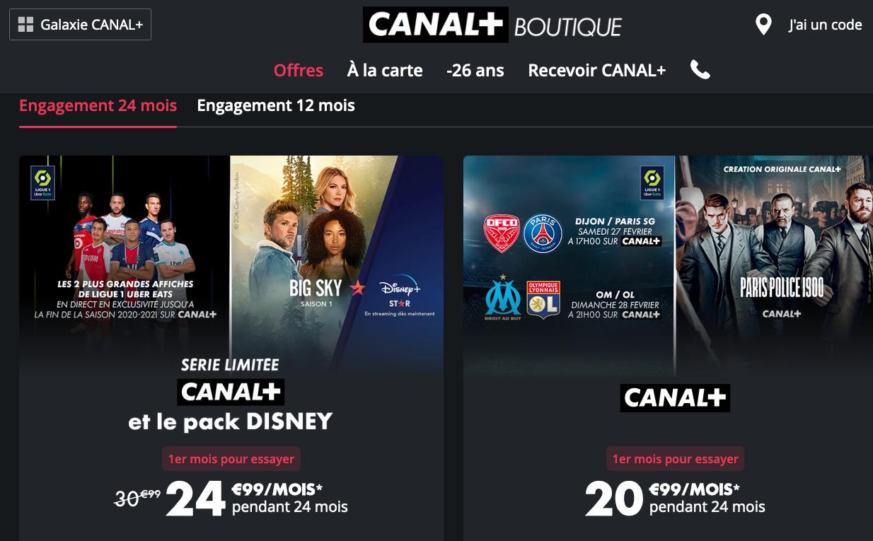 Les offres de Canal