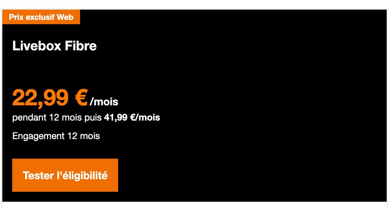 La Livebox Fibre chez Orange