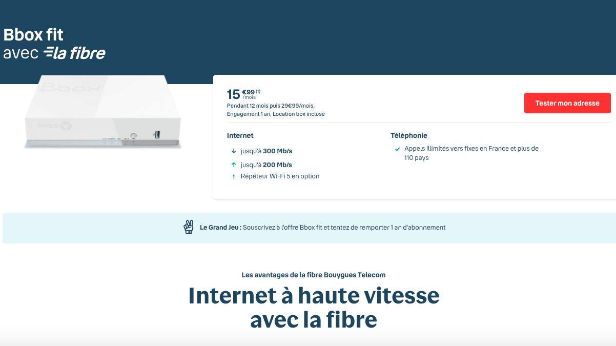 Bbox Fit offre internet pas chere